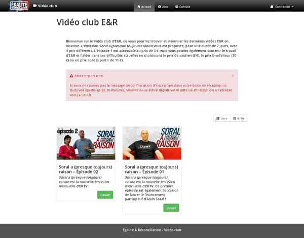 Égalité & Réconciliation - Vidéo club