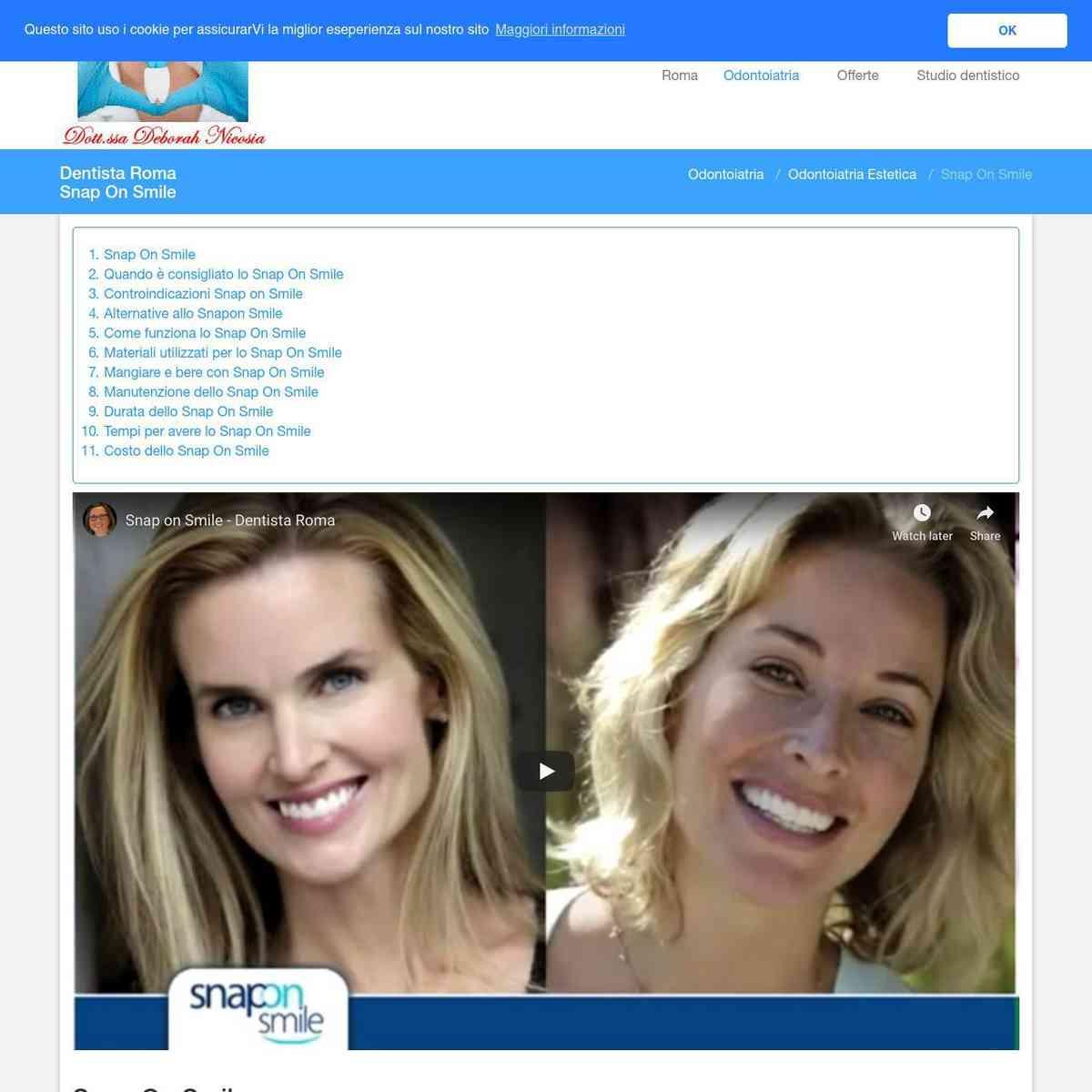 Snap On Smile - Dentista Roma