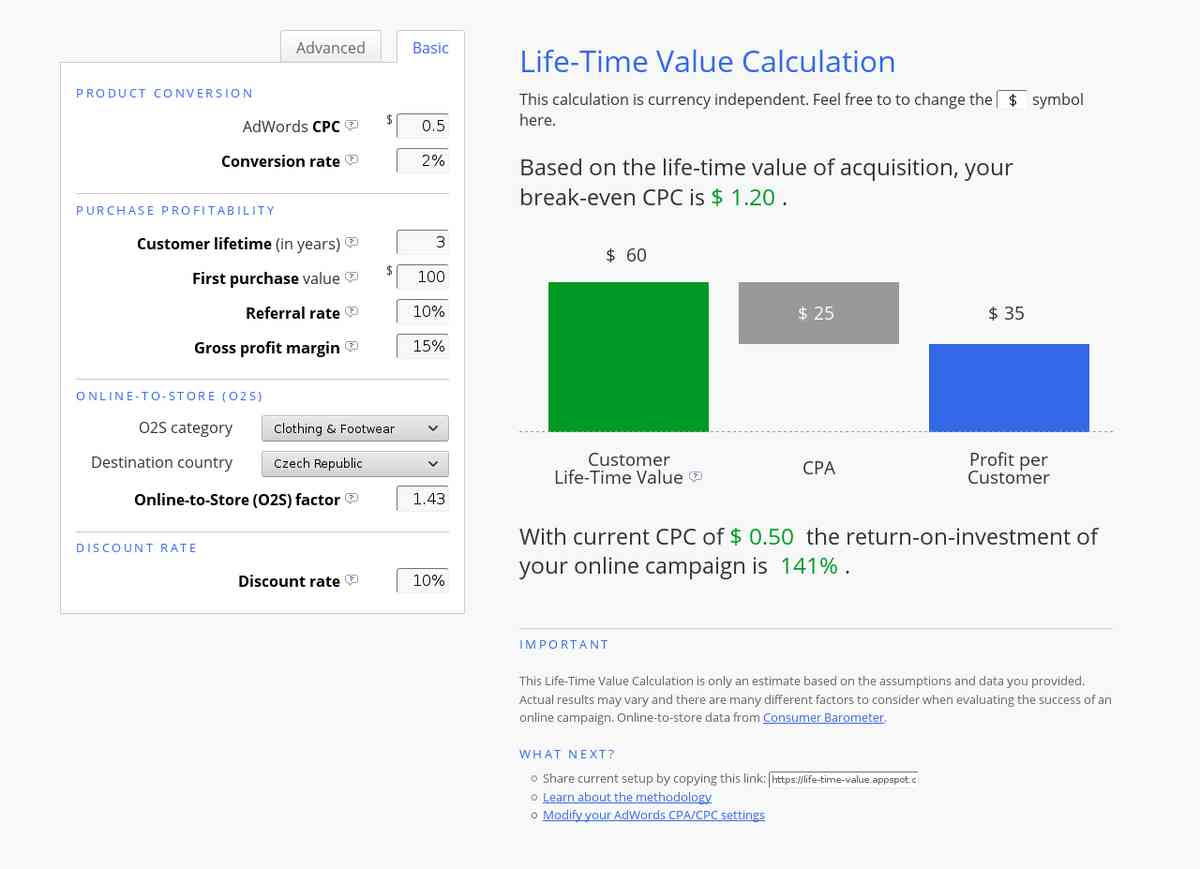 Life-Time Value Calculator