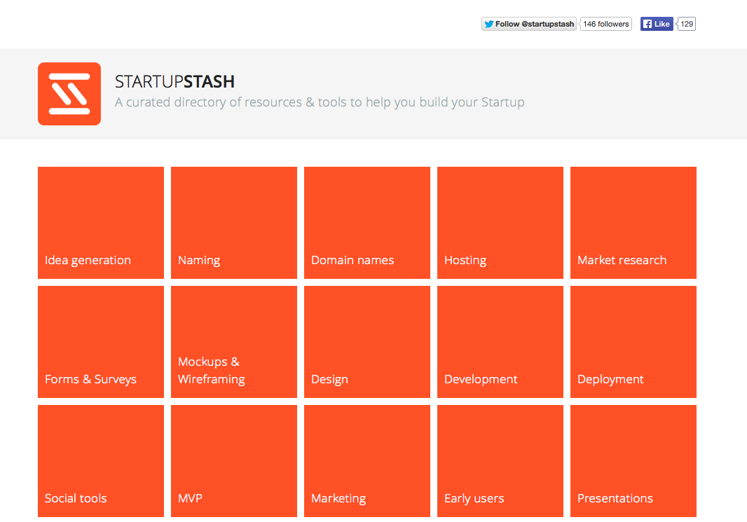 Startup Stash - Curated resources and tools for startups