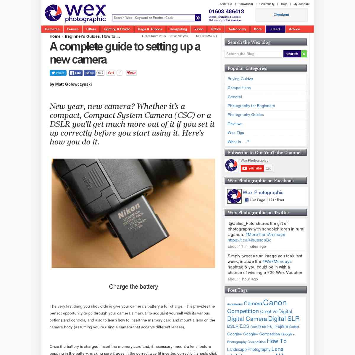 The complete guide to setting up your new camera   Wex Photographic