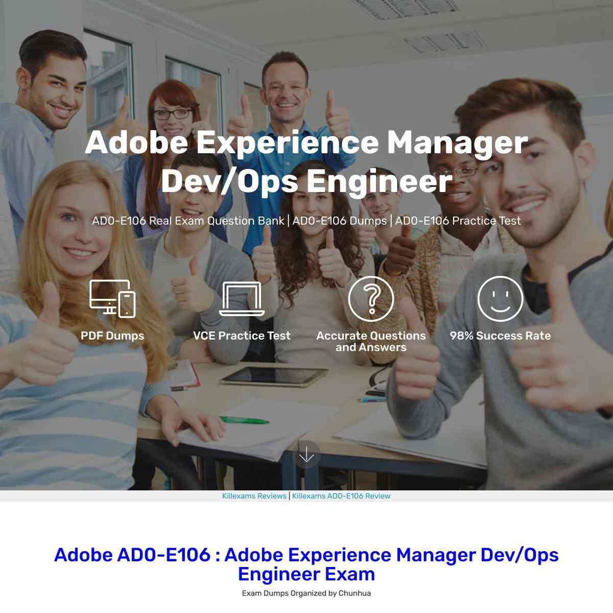 AD0-E106 real questions are totally changed by Adobe
