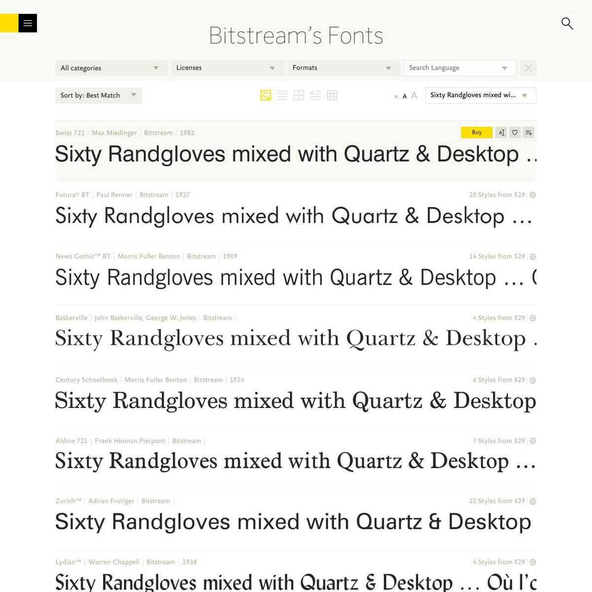 Bitstream's Fonts | FontShop