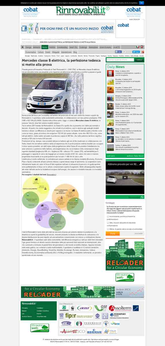 Mercedes classe B elettrica, ecco il Test di Rinnovabili.it