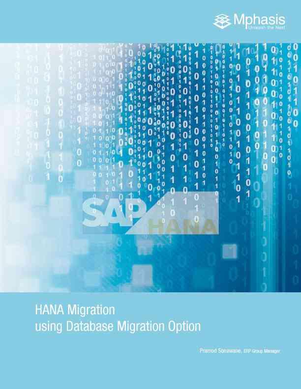 Best SAP HANA Migration Process