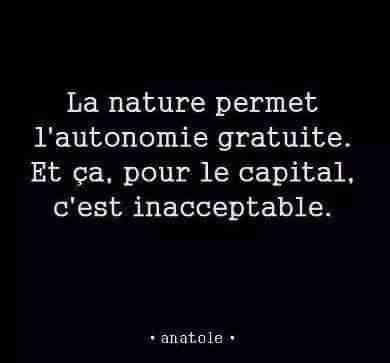 #nature permet l'autonomie gratuite
