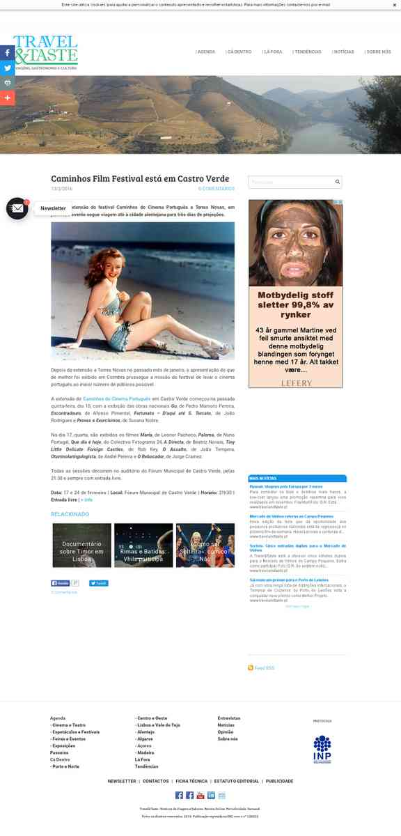 Caminhos Film Festival está em Castro Verde | travelandtaste.pt