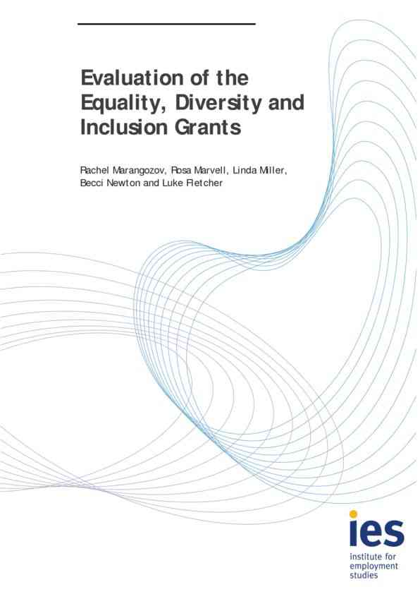 Evaluation of the Equality, Diversity and Inclusion Grants