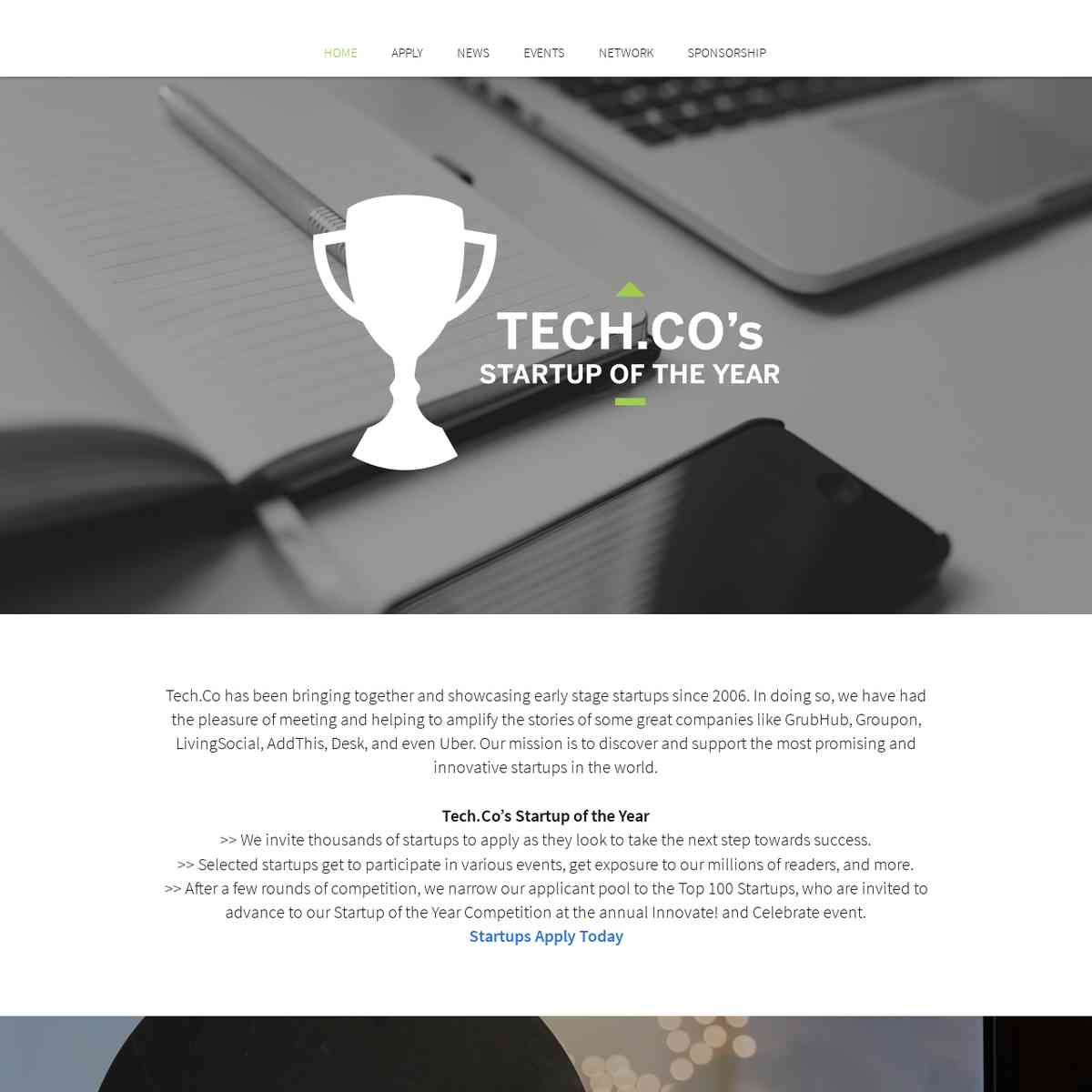 Tech.Co Startup of the Year Program
