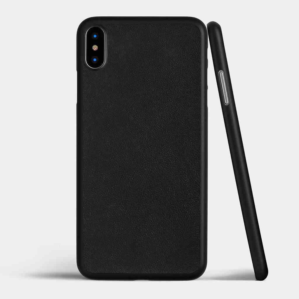 Thin Leather iPhone X Case by totallee