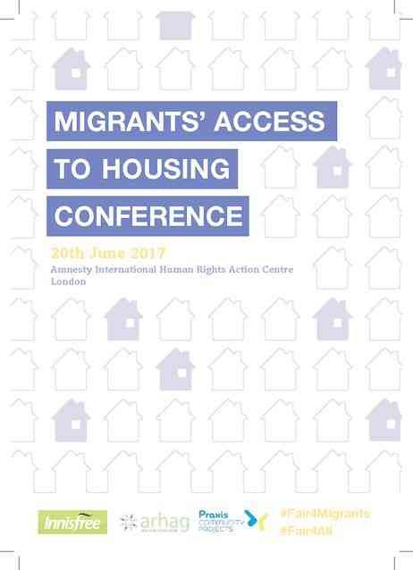Conference programme – Migrants' Access to Housing