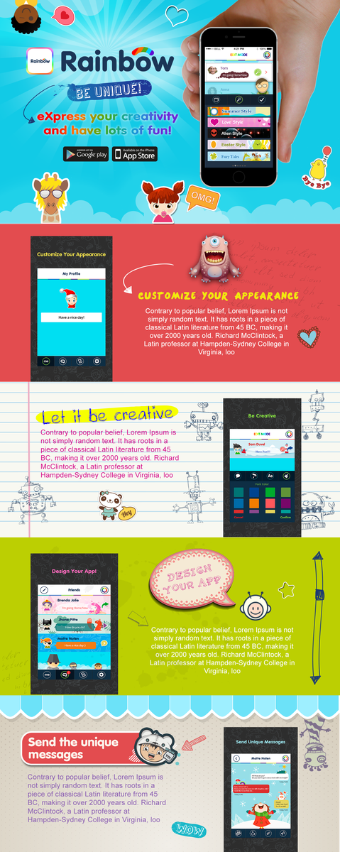 Download App one pager design
