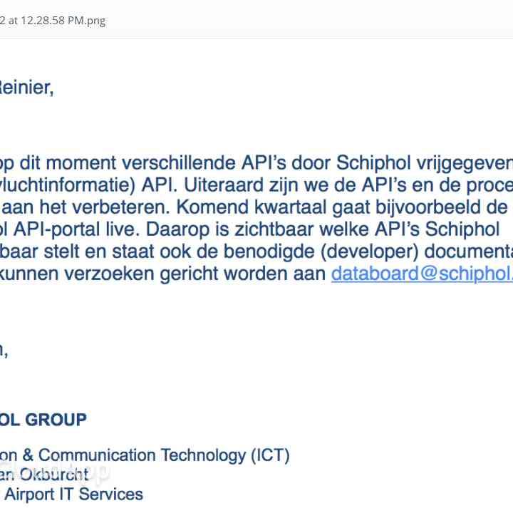Schiphol API