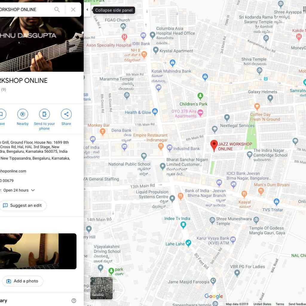 JAZZ WORKSHOP ONLINE GOOGLE MAPS