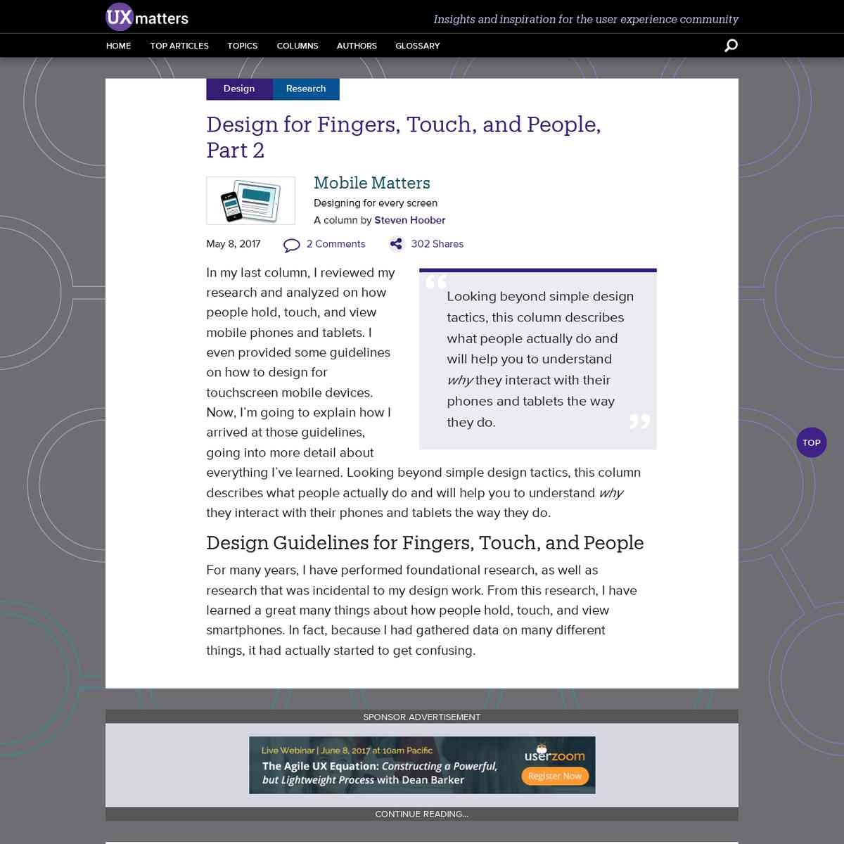 Design for Fingers, Touch, and People, Part 2 :: UXmatters