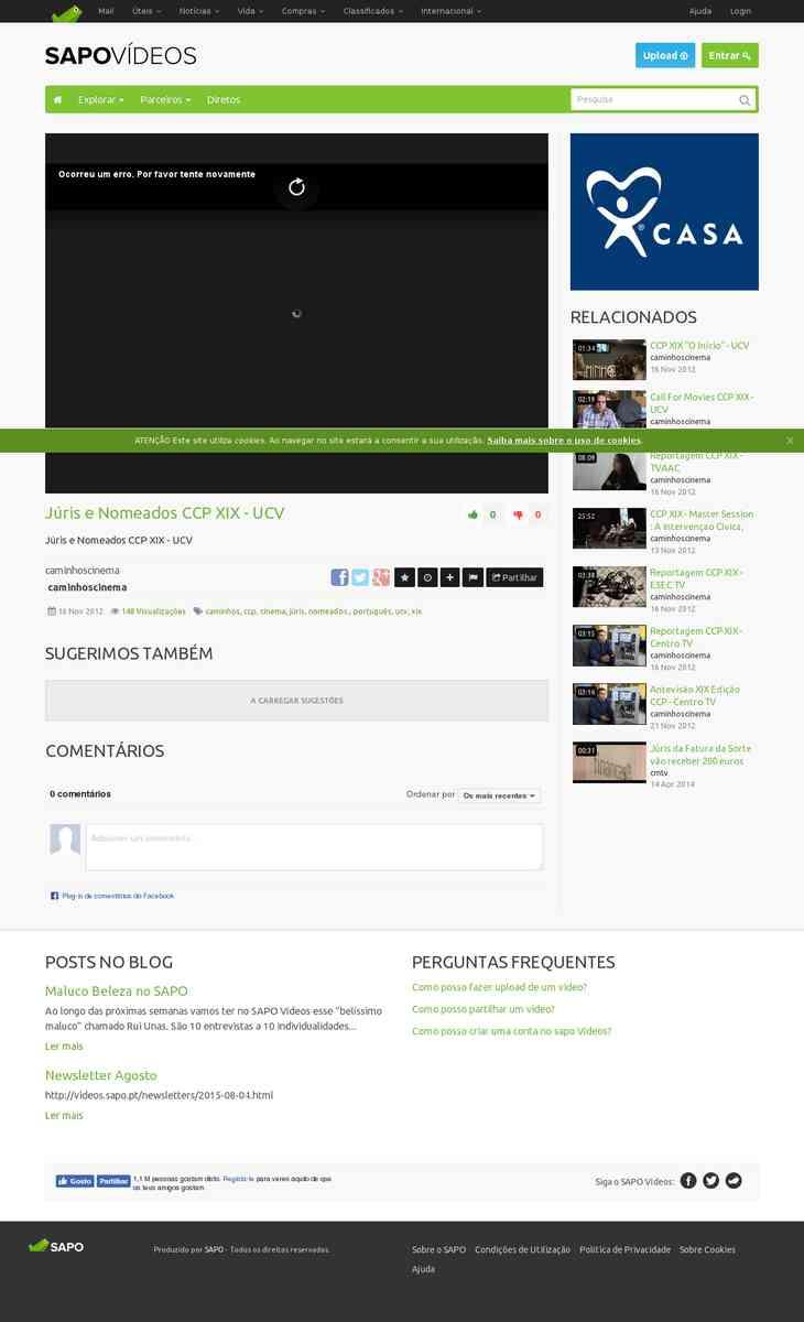 Júris e Nomeados CCP XIX | UCV