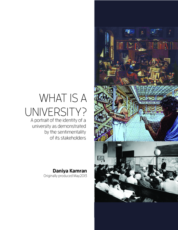 Case Study - What is a University