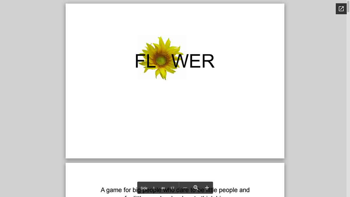Game - Flowers (preview)