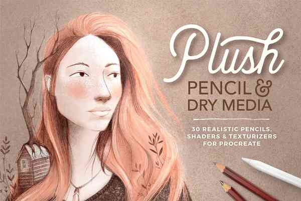 Pencil & Dry Media Procreate brushes