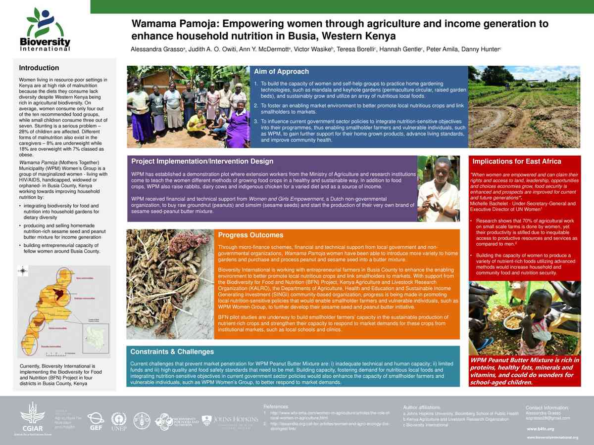 Grasso, et al (2015) Empowering women ag and income in Kenya - NHG Conf