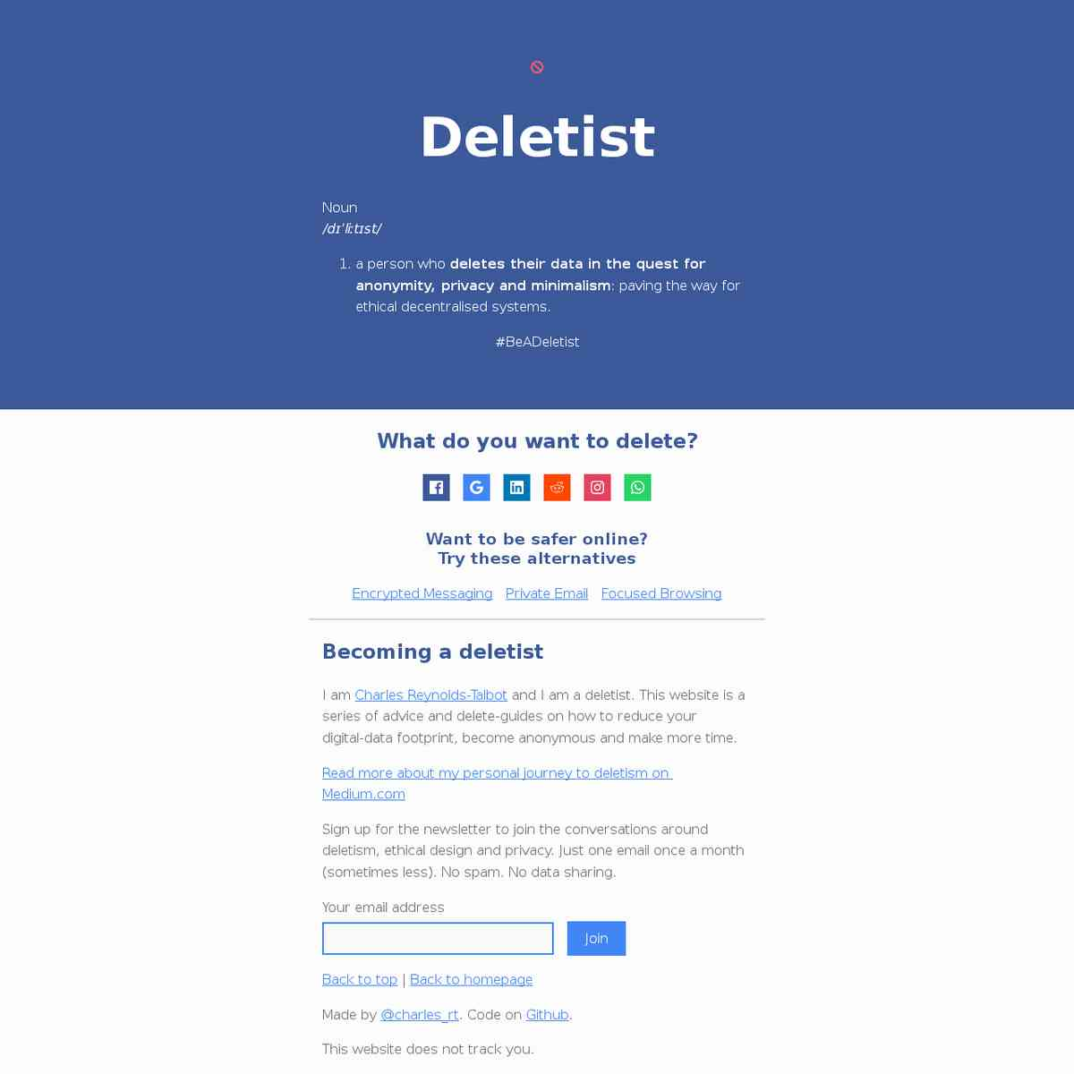 Be a Deletist