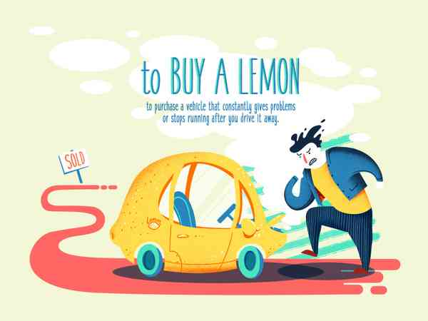 To buy a lemon - an idiom for today!
