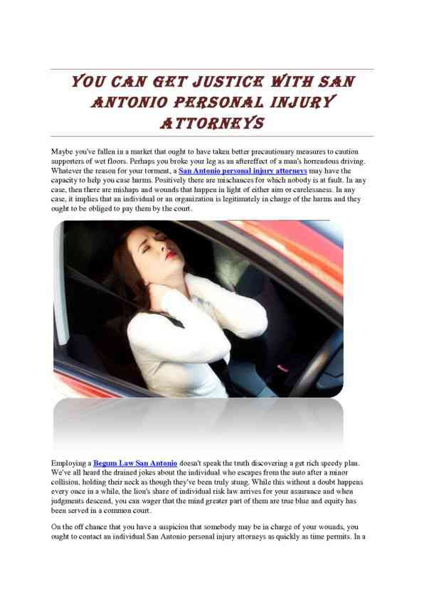 You Can Get Justice with San Antonio Personal Injury Attorneys