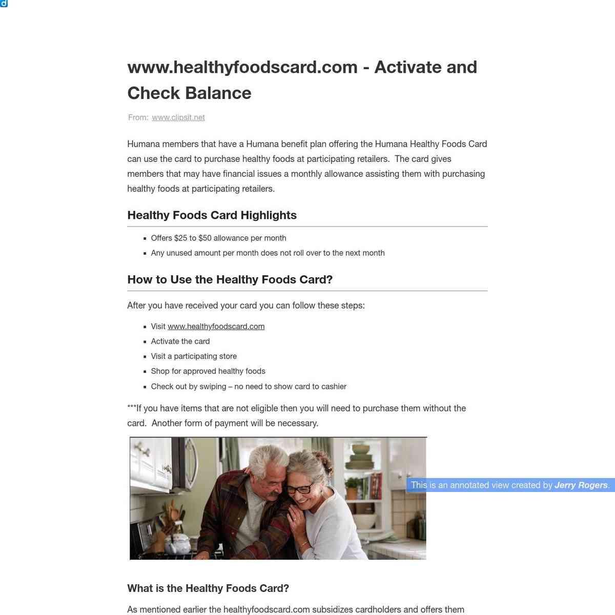 HealthyFoodsCard