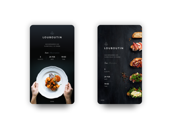 Dribbble - day054-confirmreservation.png by Catherine Wang