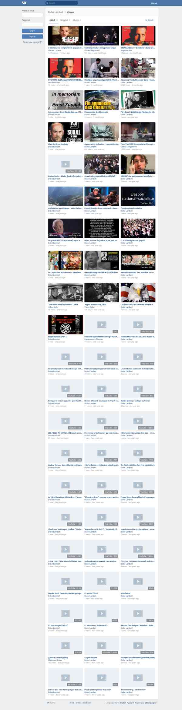 Vídeos de Didier Lambert