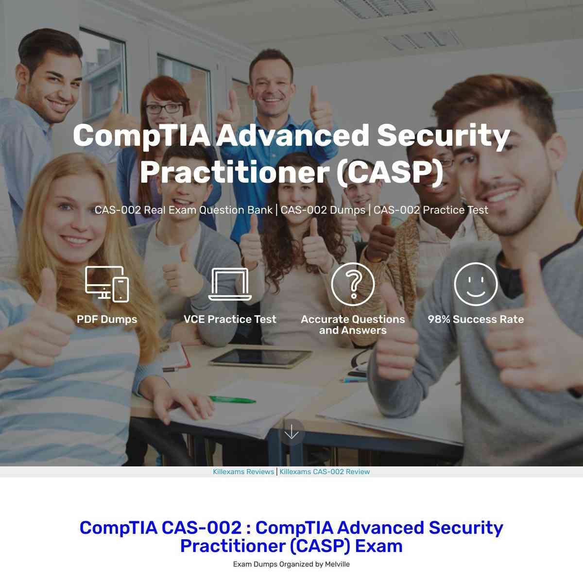 Don't Miss these free CAS-002 PDF Download to practice