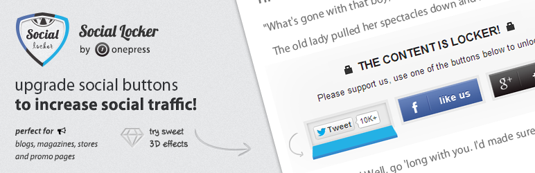 OnePress Social Locker — WordPress Plugins