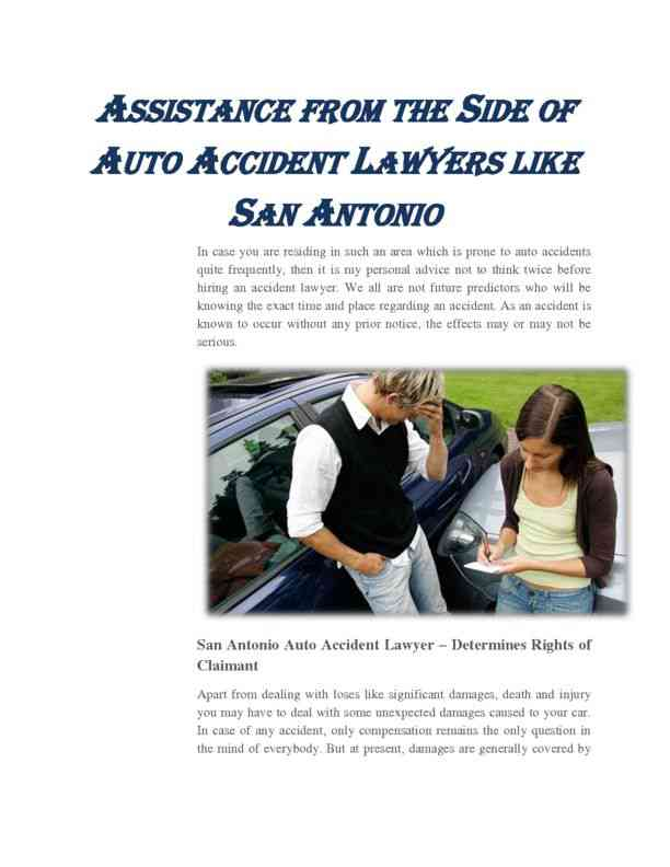 Assistance from the Side of Auto Accident Lawyers