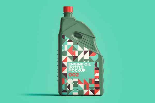 $ Engine Oil Bottle Mockup 002