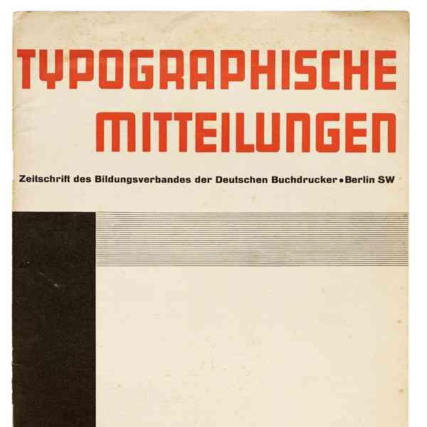 Unattributed, Typographische Mitteilungen, Berlin, June 1929