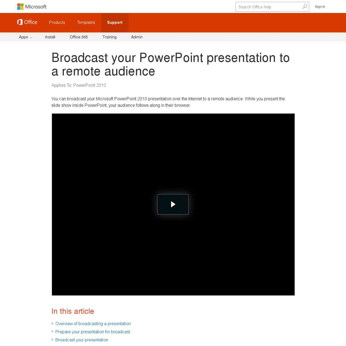 Broadcast your Powerpoint