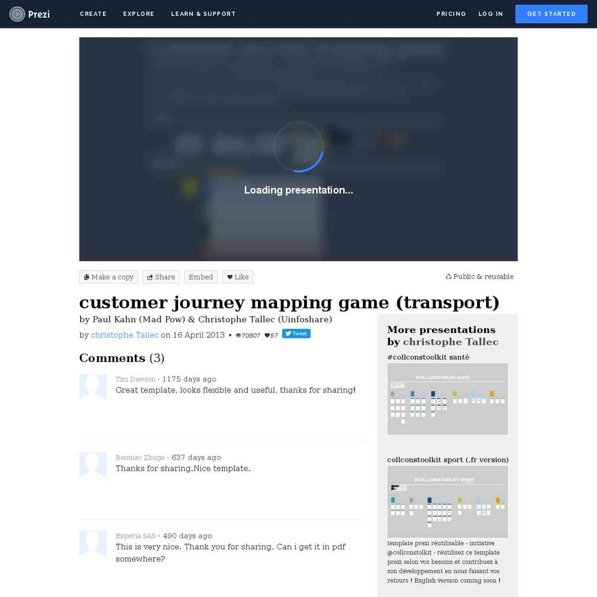 customer journey mapping game (transport) by christophe Tallec on Prezi