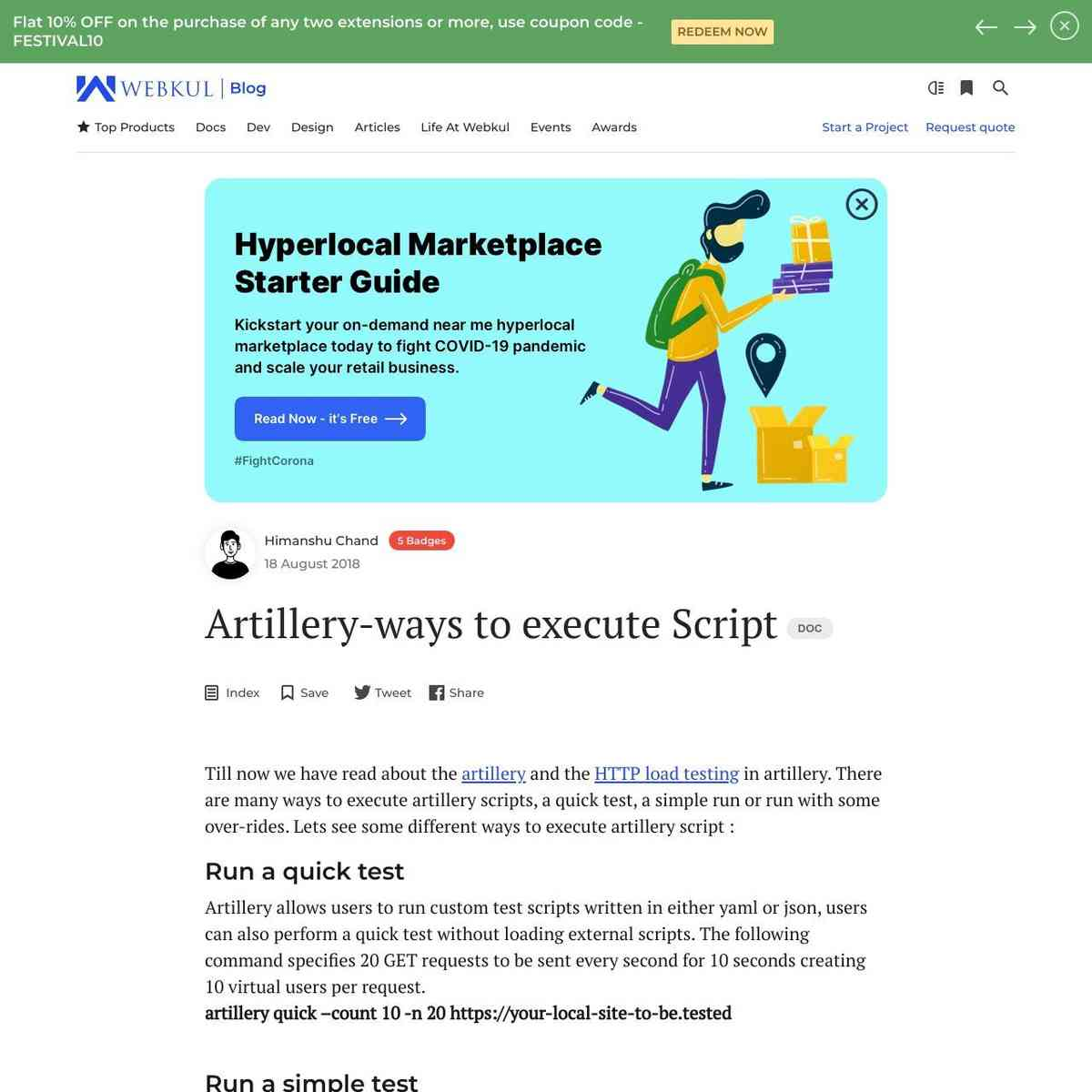Artillery-ways to execute Script -Automation testing ,Webkul Blog