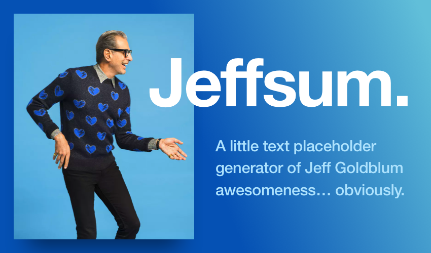 Jeffsum (Jeff Goldblum)