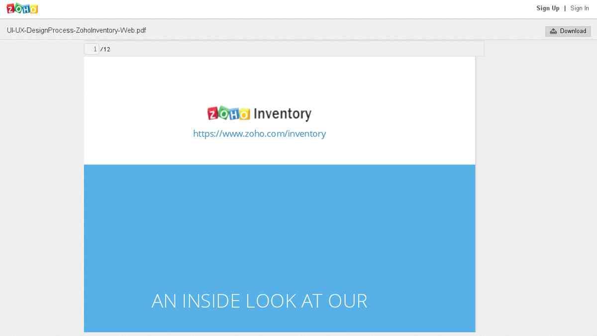 UI-UX-DesignProcess-ZohoInventory-Web.pdf - Zoho Docs