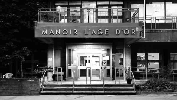 Manoir L'Age D'Or sign, Montréal