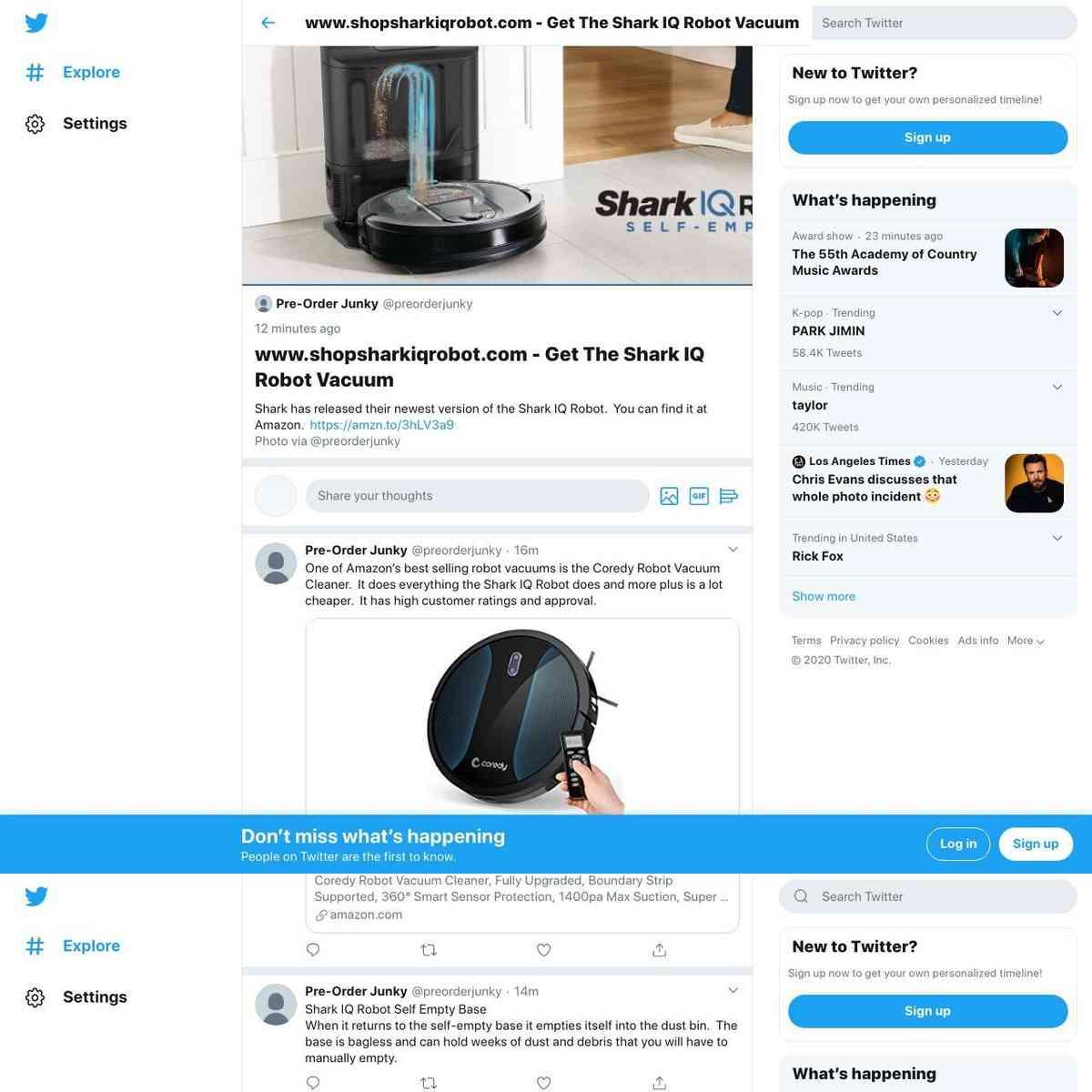 ShopSharkIQRobot Vacuum