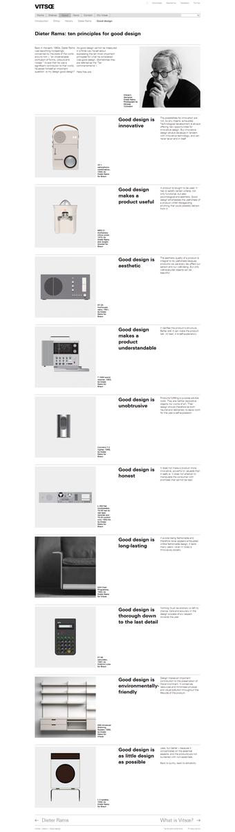Dieter Rams' 10 Principles for Good Design