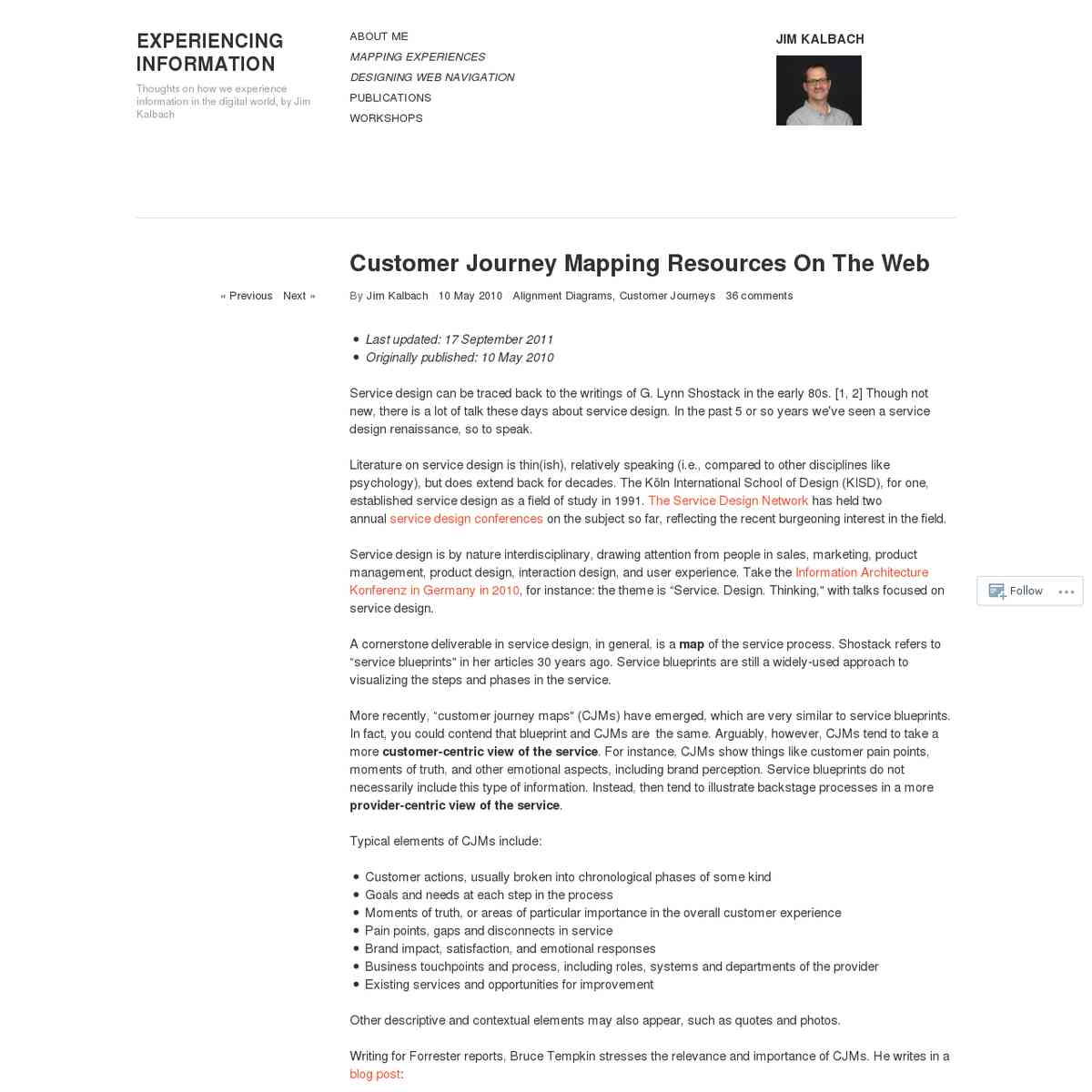 Customer Journey Mapping Resources On The Web