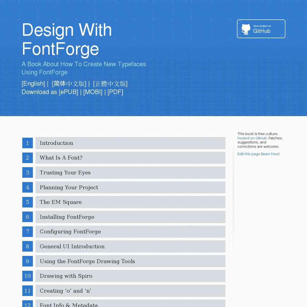 Design With FontForge