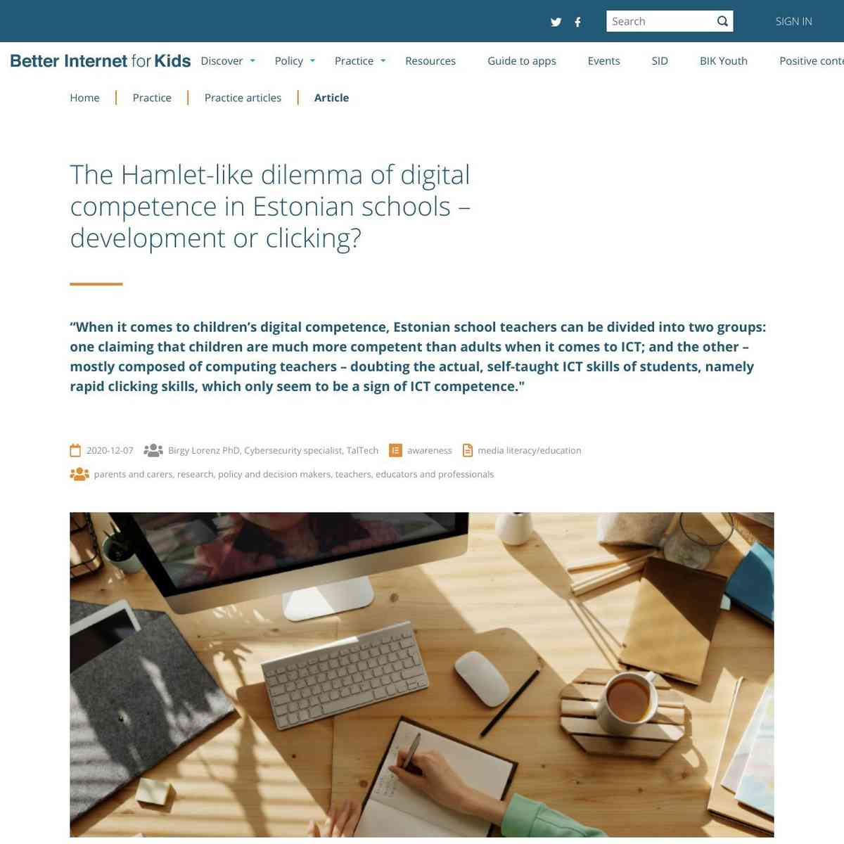 The Hamlet-like dilemma of digital competence in Estonian schools – development or clicking?