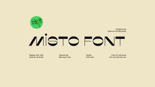 Misto Font. Cyrillic and Latin