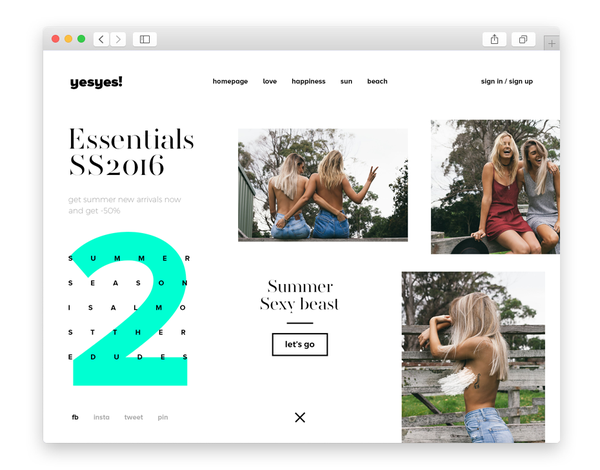 dribbble SS16.WEB/UI on Behance