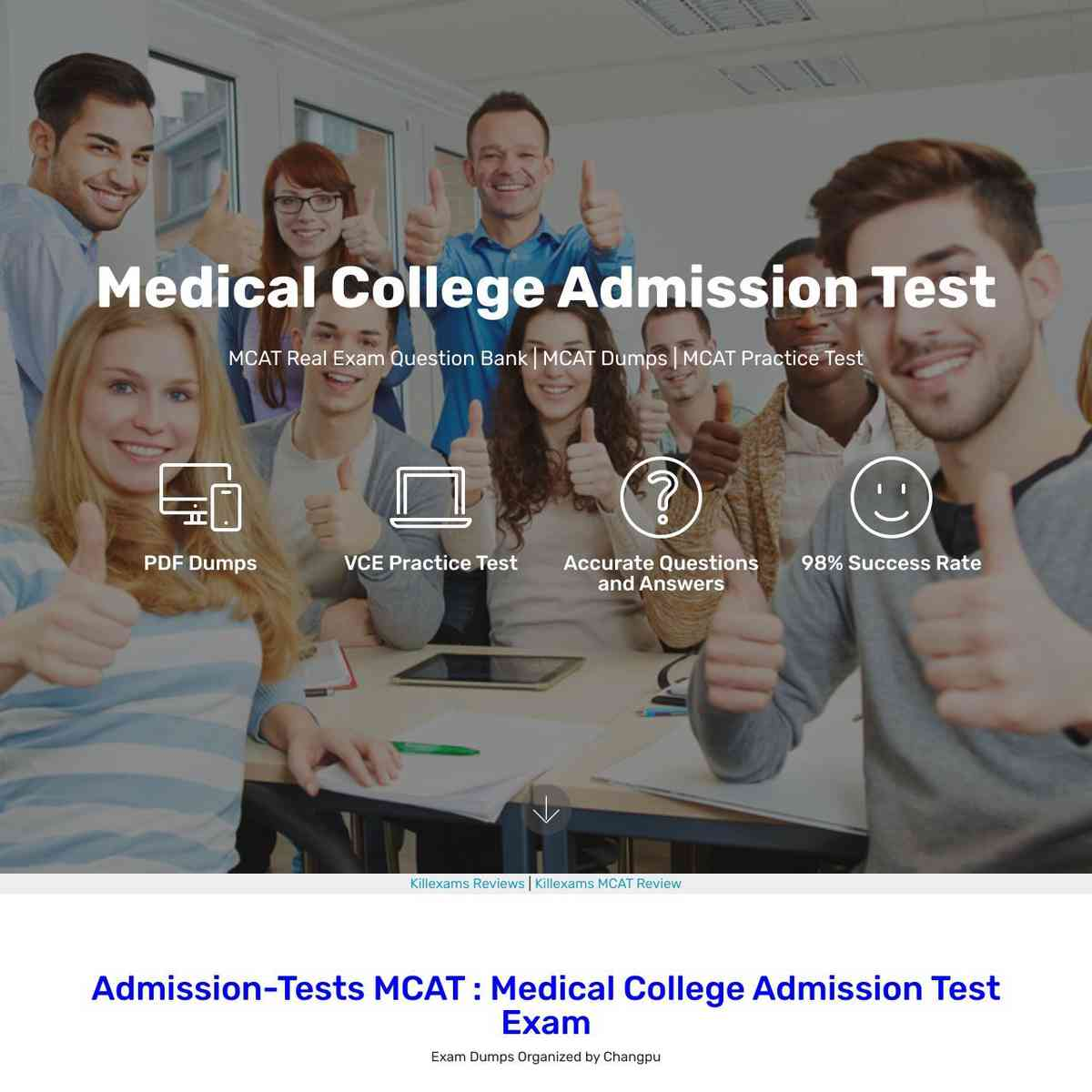 Full MCAT Exam Questions Question bank from killexams
