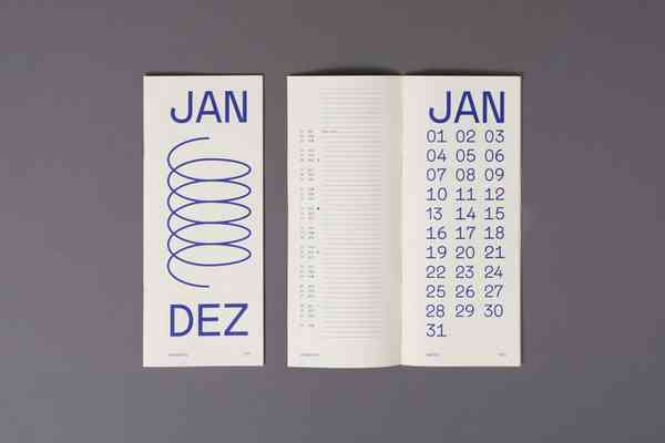 2021 Typographic Calendar